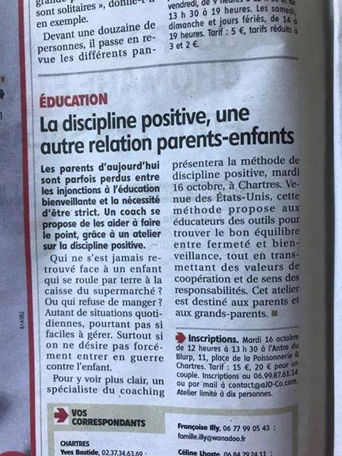 Les atelier AJD-Coaching de discipline positive en eure et loir, on en parle